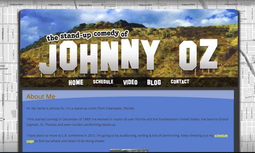 Johnny Oz site design